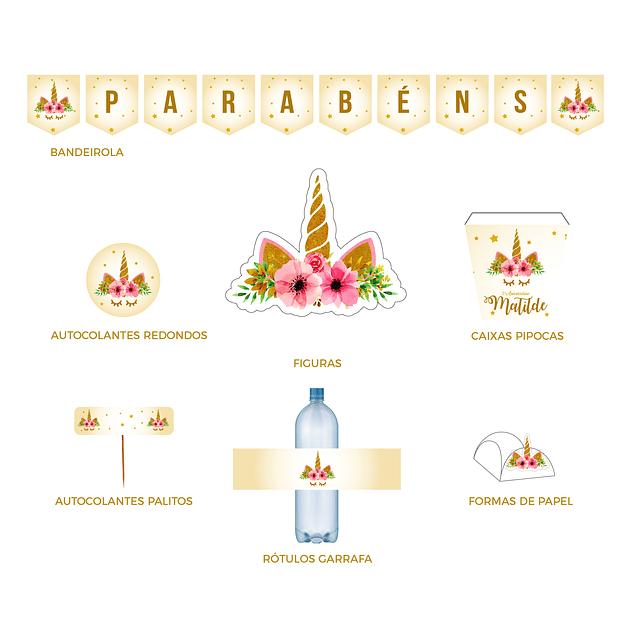 Produtos Festa Unicórnio Gold