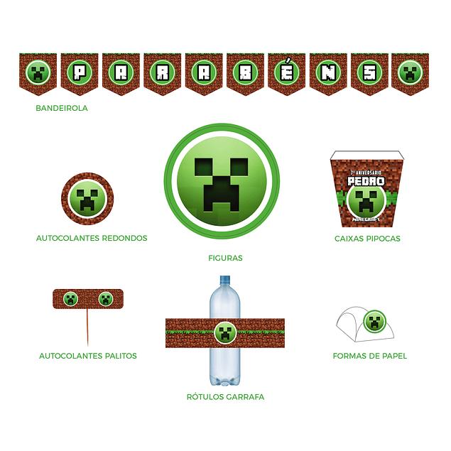 Produtos Festa Minecraft