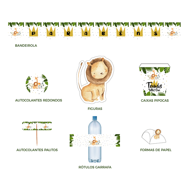 Produtos Festa  Selva Aquarela