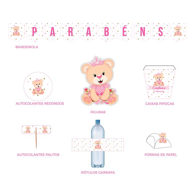 Produtos Festa Ursinha Glitter