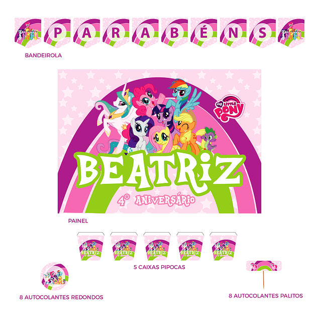 Kit Festa My Little Pony