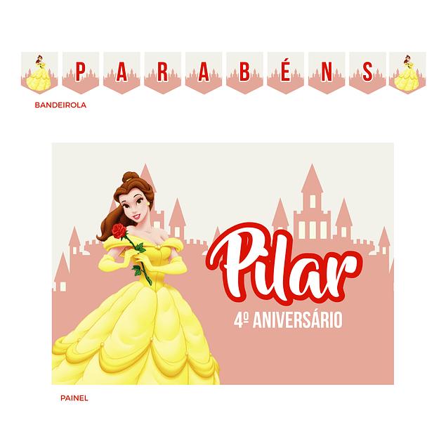 Kit Festa Princesa Bela