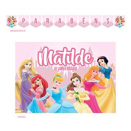 Kit Festa Princesas Disney