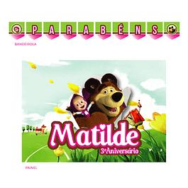 Kit Festa Masha e o Urso