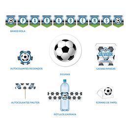 Produtos Festa Futebol Azul
