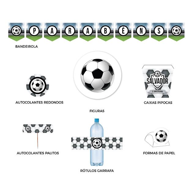 Produtos Festa Futebol Preto