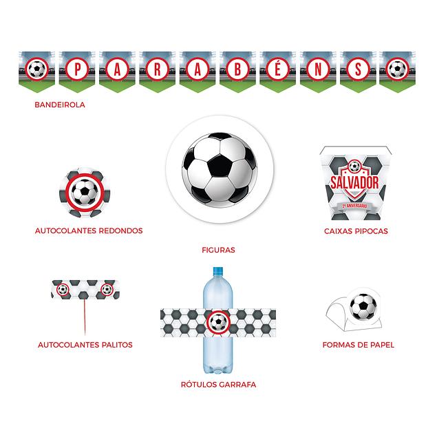 Produtos Festa Futebol Vermelho
