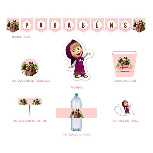 Produtos Festa Masha Rosa