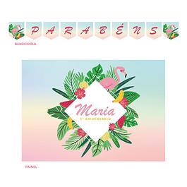 Kit Festa Flamingo Cores