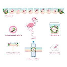 Produtos Festa Flamingo Cores