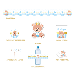 Produtos Festa Ursinho Azul Bebé