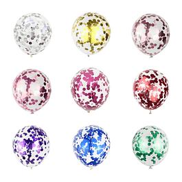 5 Balões Confettis 30CMS