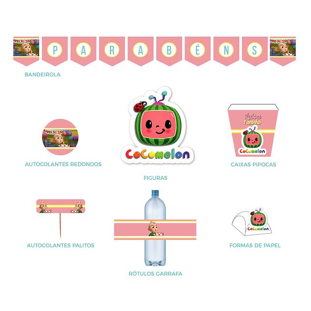 Produtos Festa Cocomelon Rosa