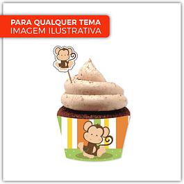 4 Cintas Cupcake c/ Topper