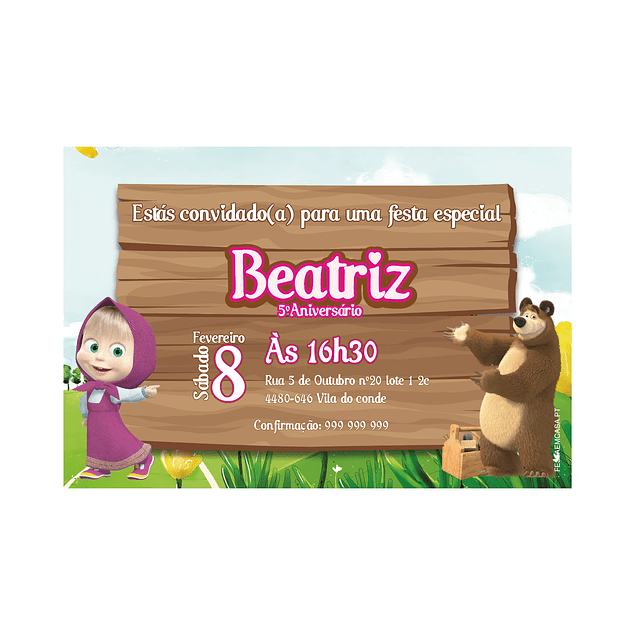 Produtos Festa Masha e o Urso