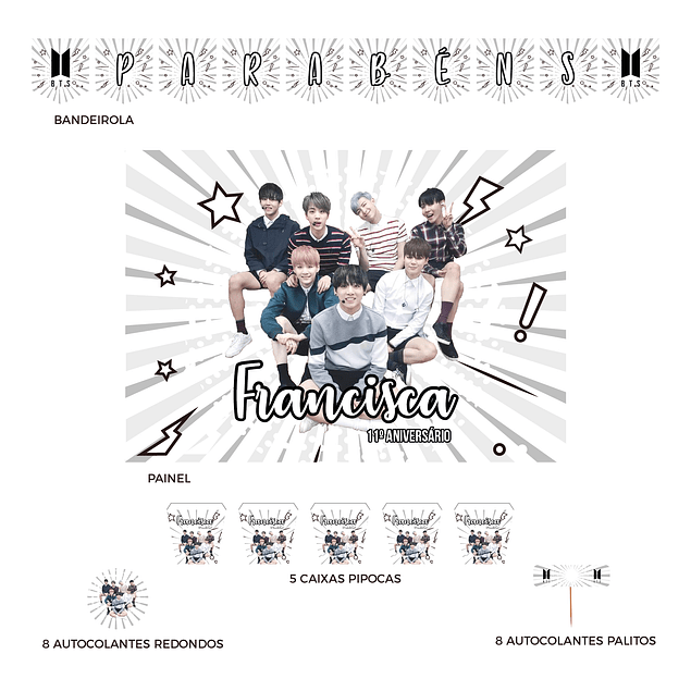 Kit Festa Banda BTS