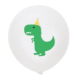 5 Balões Dinossauro