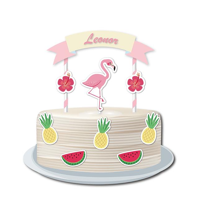 Topo de Bolo Flamingo Cores