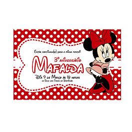 Convites Minnie Vermelha