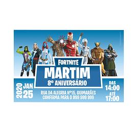 Convites Fortnite 4