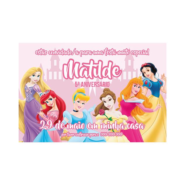 Convites Princesa Disney