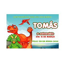 Convites Dinossauros 2