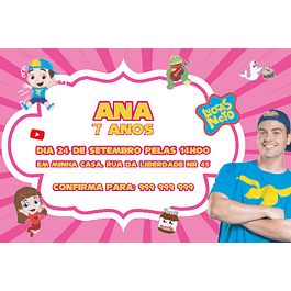 Convites Luccas Neto Rosa