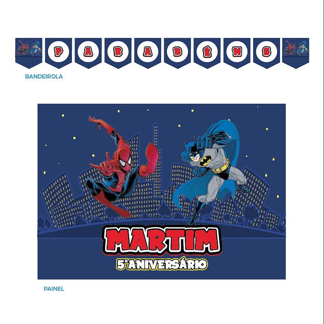 Kit Festa Homem Aranha vs Batman