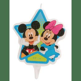 Vela Mickey e Minnie 7,5cms