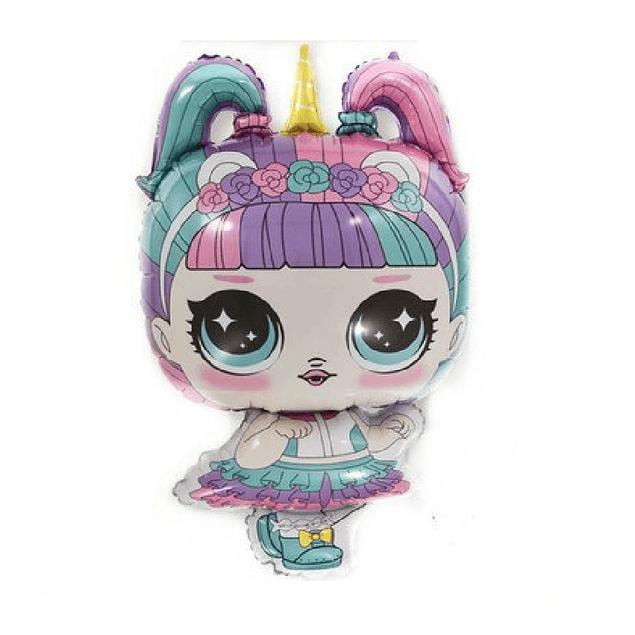 Balão LOL Unicorn Doll 81x48cms