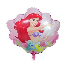 Balão Concha Sereia Ariel 63x61cms