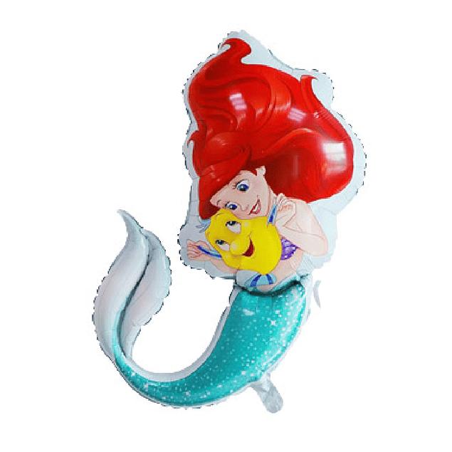 Balão Sereia Ariel 82x67cms