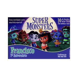 Convites Super Monstros Menino