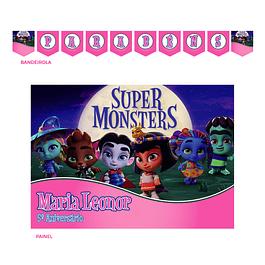 Kit Festa Super Monstros Menina
