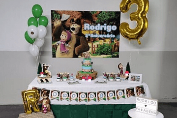 Exemplos de decoração de festas de aniversário infantil.