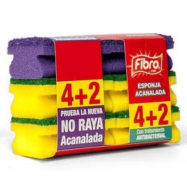 Esponja Acanalada 4+2