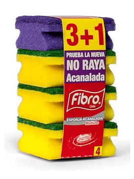 Esponja Acanalada 3+1