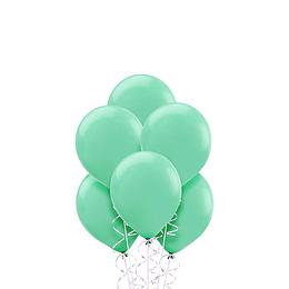 Globo Liso Glam 9 Pastel Color Verde Agua 25 Uni