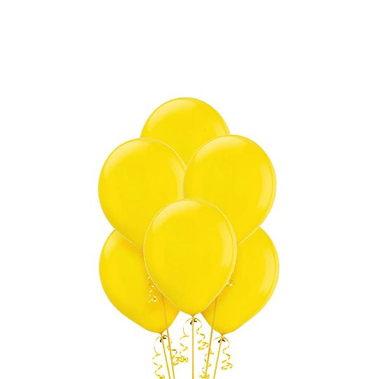 Globo Liso Glam 9 Pastel Color Amarillo 25 Uni