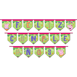 Guirnalda Feliz Cumpleaños Peppa Pig 1 Uni