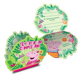 Tarjetas De Invitacion Peppa Pig 6 Uni