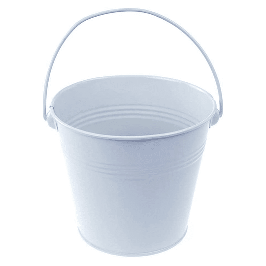 Balde Metalico Mediano Blanco 1 Uni