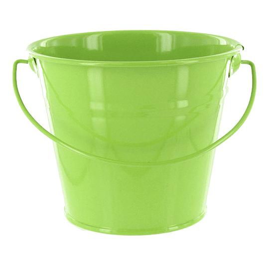 Balde Metalico Mediano Verde Lima 1 Uni
