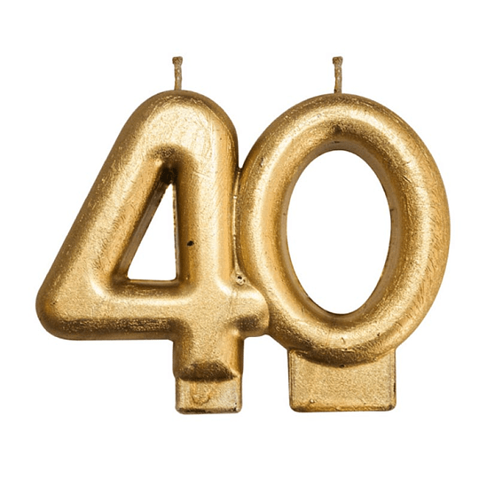Vela Dorada 40 Años 1 Uni