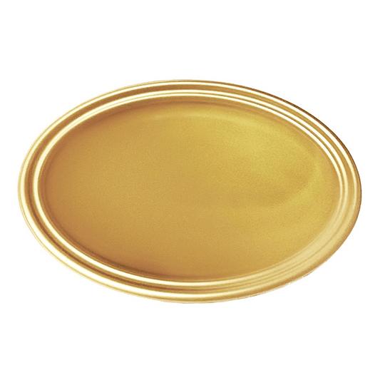 Bandeja Ovalada Metal Oro 5 Uni