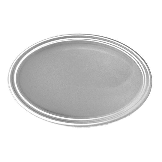 Bandeja Ovalada Metal Plata 5 Uni