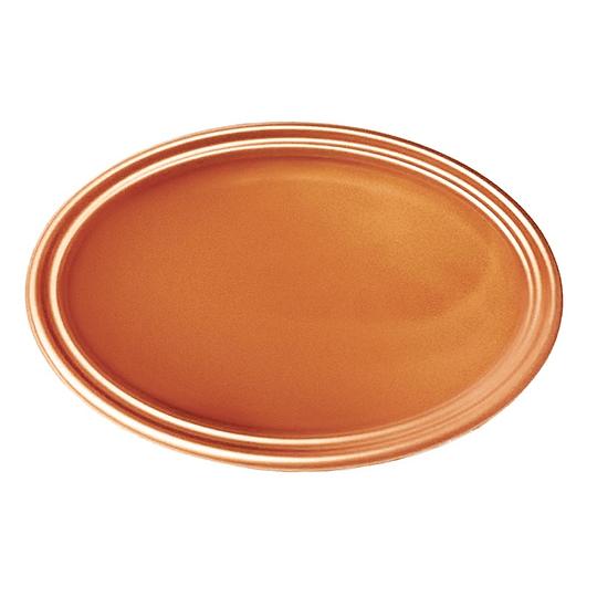 Bandeja Ovalada Metal Cobre 5 Uni