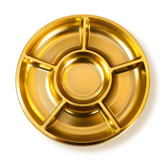 Bandeja Cocktail Glam Metal Oro 3 Uni