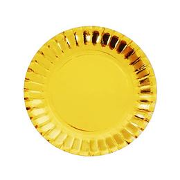 Mini Plato Dorado 10Cm 24 Uni