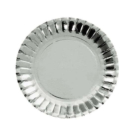 Mini Plato Plateado 10Cm 24 Uni